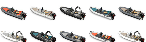 Different configurations of the new Zodiac Medline 6.8m