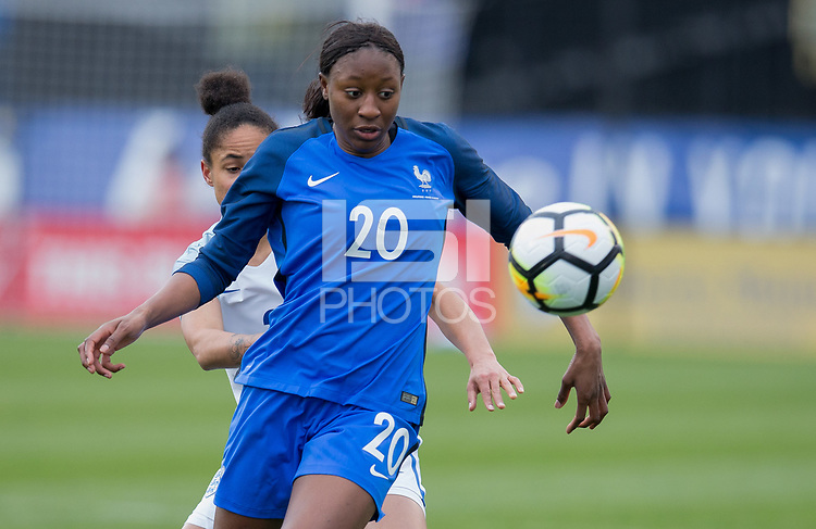 Columbus, Ohio - Thursday March 01, 2018: Kadidiatou Diani during a 2018 SheBelieves Cup match between the women's national teams of the England (ENG) and France (FRA) at MAPFRE Stadium.