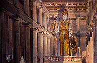 """Athens: The Parthenon. Interior--""""The Cult of the Goddess (stood there) and probably very little else"""" from Michael Grant, ed., BIRTH OF WEST CIVILIZATION."""