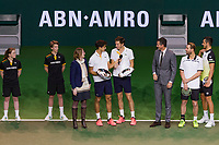 Rotterdam, The Netherlands, 18 Februari, 2018, ABNAMRO World Tennis Tournament, Ahoy, Doubles final, Pierre-Hugues Herbert (FRA) / Nicolas Mahut (FRA), Oliver Marach (AUT) / Mate Pavic (CRO)<br /> <br /> Photo: www.tennisimages.com