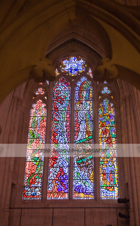 The Washington National Cathedral in Washington, DC boasts over 200 stained glass windows, many of which depict major events.