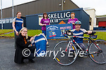 Skellig Six18 Distillery in Cahersiveen rows in behind Cunamh Iveragh for the Ring of Kerry Cycle, with a donation for all Cycling Tops, pictured here front l-r; Norma O'Shea(Visitor Experience Manager), Brendan Murphy(Sec Cunamh Iveragh), back l-r; Aoife Breen(Brand Manager Skellig Six18), Evelyn Goggin & Teresa Cronin.