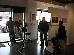 Set up with Dan Steinhardt and Art for Epson video at the Art Wolfe Gallery.