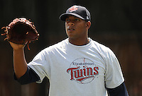 LHP Nelvin Fuentes (44) of the Elizabethton Twins in a game against the Danville Braves on July 16, 2010, at Joe O'Brien Field in Elizabethton, Tenn. Photo by: Tom Priddy/Four Seam Images