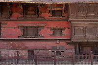 A broken structure stands alone of the Kathmandu Durbar Square, Kathmandu, Nepal. May 03, 2015