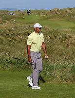 150719 | The 148th Open - Monday Practice<br /> <br /> Tiger Woods of USA during practice for the 148th Open Championship at Royal Portrush Golf Club, County Antrim, Northern Ireland. Photo by John Dickson - DICKSONDIGITAL
