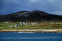 Abandoned island settlement off the coast of Donegal, Ireland