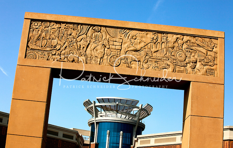 This iconic archway marks the entrance of Ballantyne Village and the community of Ballantyne, a suburb of Charlotte NC located near the South Carolina border. The 2,000-acre mixed-use development was created by land developer Howard C. Smokey Bissell.