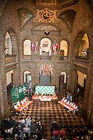 17-9-09, Netherlands,  Maastricht, Tennis, Daviscup Netherlands-France, Draw, de loting in het oude stadhuis.