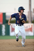 Bobby Boyd (3) of the Lancaster JetHawks runs the bases during a game against the Visalia Rawhide at The Hanger on July 6, 2016 in Lancaster, California. Lancaster defeated Visalia, 10-7. (Larry Goren/Four Seam Images)