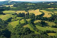 Bocage sur le palteau de Millevaches, terre d'elevage extenssif..Bocage on the plateau of Millevaches, ground of extenssif breeding.