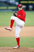 July 3, 2009:  Pitcher Eric Fornataro of the Batavia Muckdogs delivers a pitch during a game at Dwyer Stadium in Batavia, NY.  The Muckdogs are the NY-Penn League Short-Season Class-A affiliate of the St. Louis Cardinals.  Photo By Mike Janes/Four Seam Images