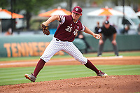 Texas A&M Aggies pitcher Asa Lacy (35) in action against the Tennessee Volunteers in Southeastern Conference play at Lindsey Nelson Stadium in Knoxville, Tennessee, on April 22, 2018. Tennessee beat Texas A&M 6-4. (Danny Parker/Four Seam Images)