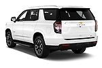 Car pictures of rear three quarter view of 2021 Chevrolet Tahoe LT 5 Door SUV Angular Rear