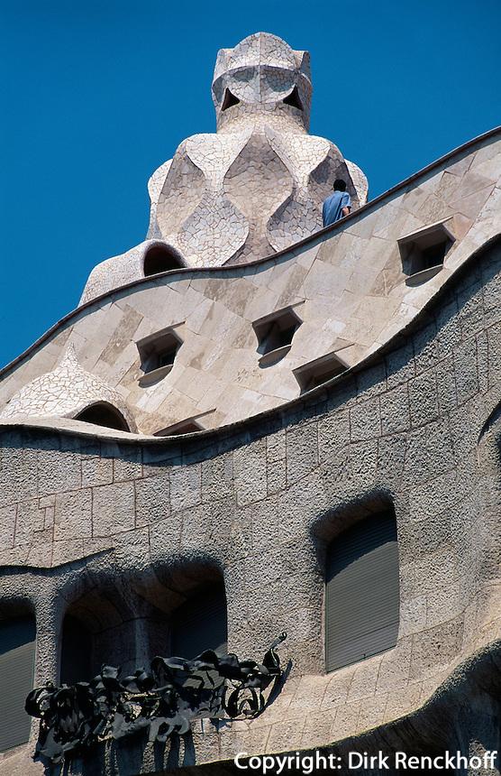 Spanien, Katalonien, Barcelona, Casa Mila = La Pedrera von Antoni Gaudi, Unesco-Weltkulturerbe
