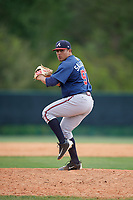 Atlanta Braves Carlos Salazar (97) during a minor league Spring Training game against the Detroit Tigers on March 25, 2017 at ESPN Wide World of Sports Complex in Orlando, Florida.  (Mike Janes/Four Seam Images)