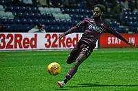 Nathan Dyer of Swansea City crosses the ball during the Sky Bet Championship match between Preston North End and Swansea City at Deepdale, Preston, England, UK. Saturday 12 January 2019
