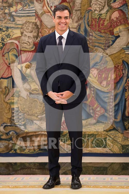 King Felipe VI of Spain receive in audience to general secretary of Socialist Party (PSOE), Pedro Sanchez Perez-Castejon at Zarzuela Palace in Madrid, July 04, 2017. Spain.<br /> (ALTERPHOTOS/BorjaB.Hojas)