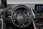 Car pictures of steering wheel view of a 2021 Mitsubishi Eclipse-Cross-PHEV Intense-Edition 5 Door SUV Steering Wheel
