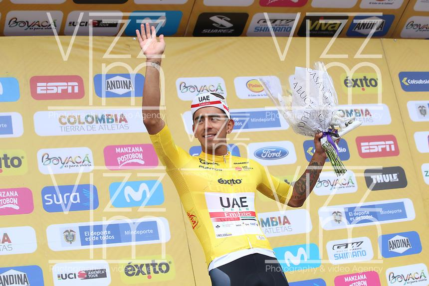 TUNJA - COLOMBIA, 15-02-2020: Sebastian Molano (COL) UAE TEAM EMIRATES , líder de los puntos después de la quinta etapa del Tour Colombia 2.1 2020 con un recorrido de 180,5 km que se corrió entre Paipa, Boyacá, y Zipaquirá, Cundinamarca. / Sebastian Molano (COL), UAE TEAM EMIRATES, point leadre after the fifth stage of 180,5 km as part of Tour Colombia 2.1 2020 that ran between Paipa, Boyaca, y Zipaquirá, Cundinamarca.  Photo: VizzorImage / Darlin Bejarano / Cont