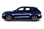 Driver side profile view of a 2021 Audi Q5 Edition One 5 Door SUV