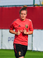 20200911 - TUBIZE , Belgium : Justien Gomboso pictured during a training session of the Belgian Women's National Team, Red Flames , on the 11th of September 2020 in Tubize. PHOTO SEVIL OKTEM | SPORTPIX.BE