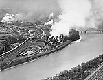 Pittsburgh PA - View of the Clairton Works of US Steel Corporation.