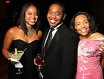 From left: Shanna Lewis, Tre Garrett and Patricia McGill at the Ensemble Theatre's 2010 Black Tie Gala at the Hilton Americas Houston Saturday Aug. 14,2010.(Dave Rossman/For the Chronicle)