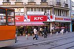 Sofia, Graf Ignatiev street scene, 2004