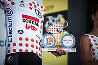 podium with Polka Dot Jersey /KOM Leader Tim Wellens (BEL/Lotto Soudal)<br /> <br /> Stage 5: Saint-Dié-des-Vosges to Colmar (175km)<br /> 106th Tour de France 2019 (2.UWT)<br /> <br /> ©kramon