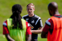 Thursday 24 July 2014<br /> Pictured:  Garry Monk, Manager of Swansea City<br /> Re: Swansea City Training at Fairwood