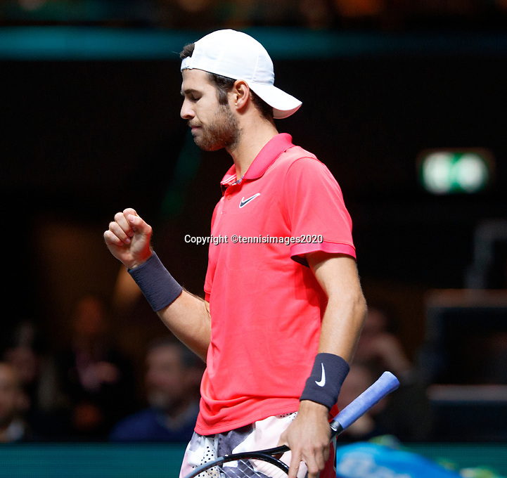 Rotterdam, The Netherlands, 11 Februari 2020, ABNAMRO World Tennis Tournament, Ahoy, <br /> Karen Khachanov (RUS).<br /> Photo: www.tennisimages.com