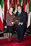 First Minister Alex Salmond, First Minister of Scotland presents Her Highness Princess Lalla Goumala Alaoui (Embassy of the Kingdom of  Moroccco) with a gift following the dinner and reception held at Edinburgh Castle this evening..Pic Kenny Smith, Kenny Smith Photography.6 Bluebell Grove, Kelty, Fife, KY4 0GX .Tel 07809 450119,
