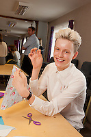Staff experienced an unsual induction training day for the soon to be opened Derby Hobbycraft store. Pictured are Oliver Stickland.