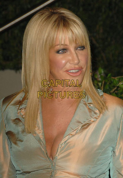 SUZANNE SOMERS .The 2010 Vanity Fair Oscar Party held at The Sunset Tower Hotel in West Hollywood, California, USA..March 7th, 2010.oscars headshot portrait two tone silver pink blue .CAP/RKE/DVS.©DVS/RockinExposures/Capital Pictures.