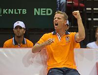 13-sept.-2013,Netherlands, Groningen,  Martini Plaza, Tennis, DavisCup Netherlands-Austria, Second rubber, Captain Jan Siemerink (NED) <br /> Photo: Henk Koster