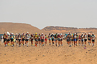 6th October 2021; Etape Mystere ;  Marathon des Sables, stage 4 of  a six-day, 251 km ultramarathon, which is approximately the distance of six regular marathons. The longest single stage is 82 km long. This multiday race is held every year in southern Morocco, in the Sahara Desert. The start for the Elite runners of stage 4, 'Longest Day'