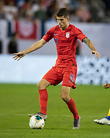 NASHVILLE, TN - JULY 4: Christian Pulisic #10 during a game between Jamaica and USMNT at Nissan Stadium on July 4, 2019 in Nashville, Tennessee.