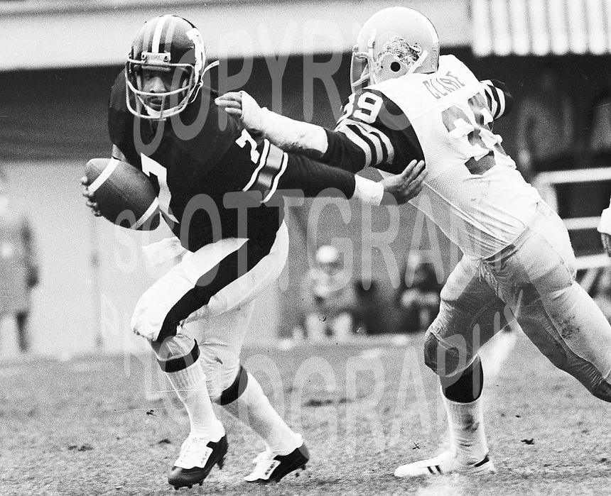 Condredge Holloway Ottawa Rough Riders quarterback 1979. Copyright photograph Scott Grant