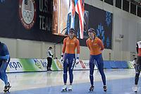 SPEEDSKATING: 12-02-2020, Utah Olympic Oval, ISU World Single Distances Speed Skating Championship, Joy Beune (NED), Femke Beuling (NED), ©Martin de Jong