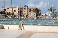 Tripoli, Libya - Green Square Fountain, National Museum in Background.