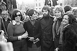 Betty Williams, Joan Baez, Mr Ciaran McKeown, Mrs Jane Ewart  Biggs, Mairead Corrigan  Peace people London 1976.<br /> <br /> Mairead Maguire (nee Corrigan)