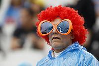 An Argentina fan in fancy dress