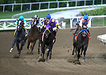 The Factor, ridden by Martin Garcia and trained by Bob Baffert, cruises to a win in the San Vicente Stakes at Santa Anita Race Track in Arcadia, CA.  Owned by Fog City Stable and George Bolton, The Factor clocked the 7-furlongs in 1:20.34.