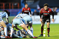 20130127 Copyright onEdition 2013©.Free for editorial use image, please credit: onEdition..Sam Stanley of Saracens during the LV= Cup match between Saracens and Cardiff Blues at Allianz Park on Sunday 27th January 2013 (Photo by Rob Munro)..For press contacts contact: Sam Feasey at brandRapport on M: +44 (0)7717 757114 E: SFeasey@brand-rapport.com..If you require a higher resolution image or you have any other onEdition photographic enquiries, please contact onEdition on 0845 900 2 900 or email info@onEdition.com.This image is copyright onEdition 2013©..This image has been supplied by onEdition and must be credited onEdition. The author is asserting his full Moral rights in relation to the publication of this image. Rights for onward transmission of any image or file is not granted or implied. Changing or deleting Copyright information is illegal as specified in the Copyright, Design and Patents Act 1988. If you are in any way unsure of your right to publish this image please contact onEdition on 0845 900 2 900 or email info@onEdition.com