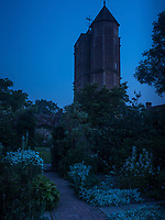 In the centre of the garden is the tower, where Vita Sackville-West had her writing room and where she wrote her novels and poems