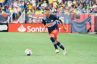 FOXOBOROUGH, MA - AUGUST 21: Damian Rivera #72 of New England Revolution during a game between FC Cincinnati and New England Revolution at Gillette Stadium on August 21, 2021 in Foxoborough, Massachusetts.