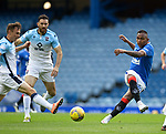 04.10.2020 Rangers v Ross County: Alfredo Morelos lays off a pass