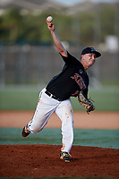Dominick Madonna during the WWBA World Championship at the Roger Dean Complex on October 21, 2018 in Jupiter, Florida.  Dominick Madonna is a right handed pitcher from Lady Lake, Florida who attends Villages Charter High School and is committed to North Florida.  (Mike Janes/Four Seam Images)