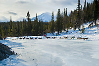 Allen Moore and Karin Hendrickson's teams run up an area called *the glacier* 11 miles after leaving the Rohn checkpoint during Iditarod 2009